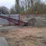 Конвейер подачи сырого песка